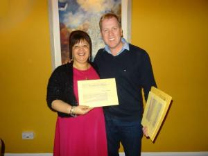 Lorraine and Tony Stockwell certificate pic2